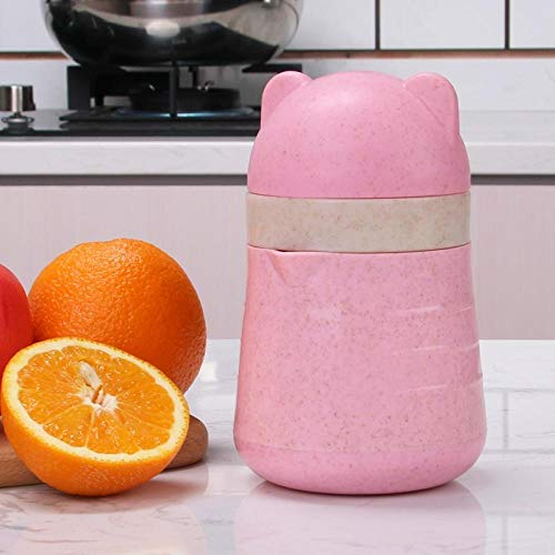 Mini Draagbare Handmatige juicer Juice Fruit Granaatappel Citroen Oranje Kleine Huishoudelijke Gebakken Sap Cup@Crucible Poeder_Twee Packs