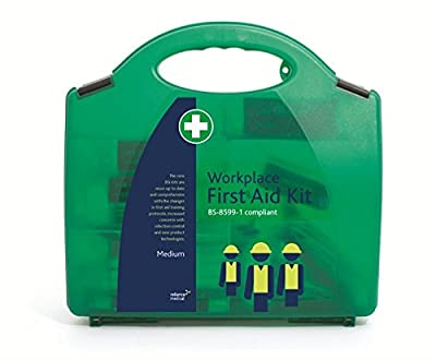Reliance Medical Workplace First Aid Kit With Safety Clips & Handle - Compliant With Bs-8599-1 - Green Small Refill by Reliance Medical