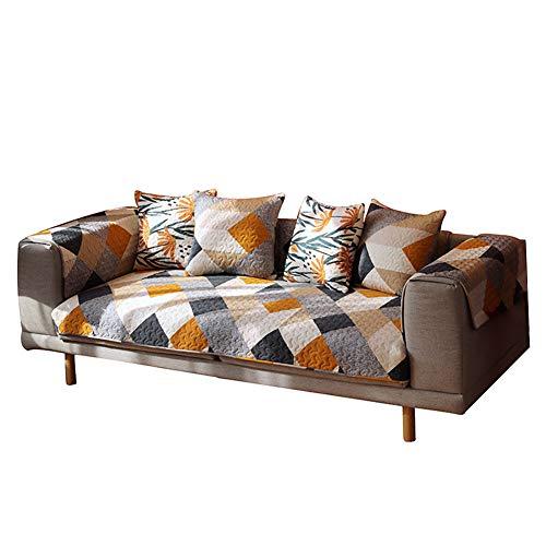 Funda de sofá Antideslizante algodón nórdico Sofá Protector Cuatro estaciones Funda de sofá para Cojín del sofá Respaldo del sofá Sofá de dos plazas 1-4 plazas Prevenir arañazos de mascotas 1 pieza