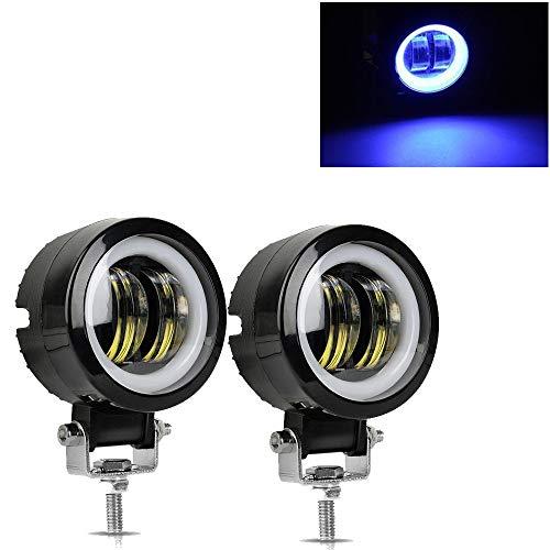 GHC barras de luz 2 piezas/1 pieza de 3 pulgadas 12 V 24 V 6500 K impermeable redondo LED luz de la barra de la noche focos portátiles para motocicleta, todoterreno, camión, coche, barco
