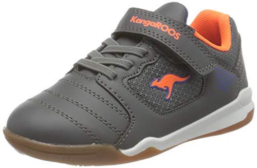 KangaROOS Miyard EV Sneaker, Steel Grey/Neon Orange 2125, 33 EU
