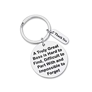 """Thank you-- """"A truly great boss is hard to find,difficult to part with, and impossible to forget.""""My dear boss, we are so proud of having such a leader. Gorgeous package--It comes with a cute keepsake gift box and membrane to protect the keychain, an..."""