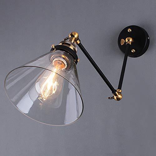 Verstelbare Long-arm wandlampen, Industrieel LED Black Iron verlichting decoratie Reading Light Opknoping Lamp American Bar Eettafel Study Metal wandkandelaar (Color : B)