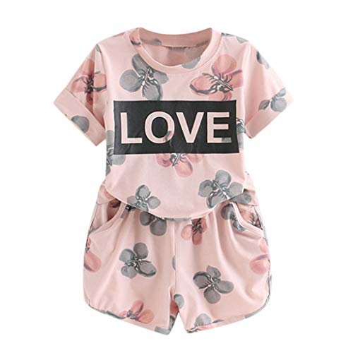 Read About Toddler Kids Baby Girls Organic Cotton Clothes Set,Beppter Letter Flower Print T-Shirt+...