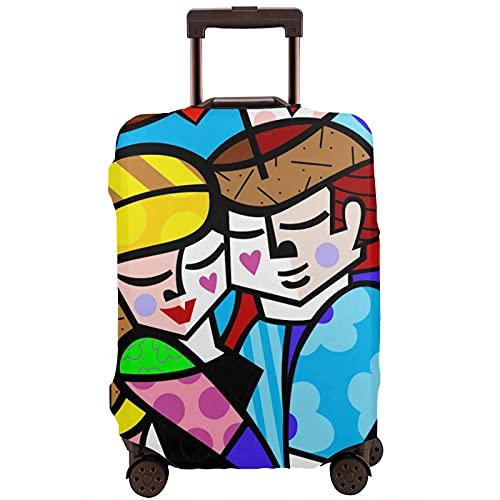 Kinsky Day Romero Britto - Coprivaligie per proteggere i bagagli da polvere e graffi., bianco, 85