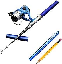 Smart Kingfisher 38Inch Mini Pocket Pen Fishing Rod Reel Combos Portable for Kids Ice Fishing