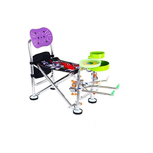 ch-AIR Chaise De Peche Pliante, Chaise De Camping PortableRandonnée, Plage, Pêche, Tabouret De Pêche (Color : C Purple 3)