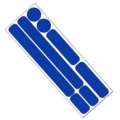 Reflektor Aufkleber Set für Fahrrad, Helm, Anhänger oder Laufrad, reflektierende Aufkleber (dunkelblau)