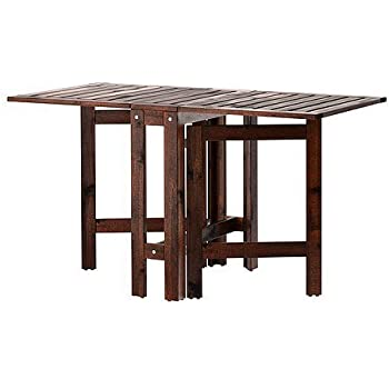 Ikea Applaro Table A Abattants Brun 20 77 133x62 Cm Amazon Fr Cuisine Maison