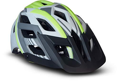 Moto Helmets® Fahrradhelm Unisex für Erwachsene & Jugendliche in Neon Größe M, leicht zu öffnen und anpassbar an die Kopfform