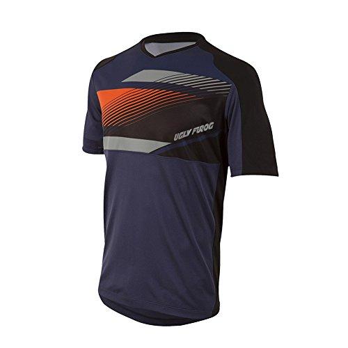 Uglyfrog Motocross-Shirt Langarm/Kurz  Kinder   MX MTB Mountainbike   Passform für Maximale Bewegungsfreiheit, Eingenähter Ellbogenschutz   Element Youth Jersey Attack