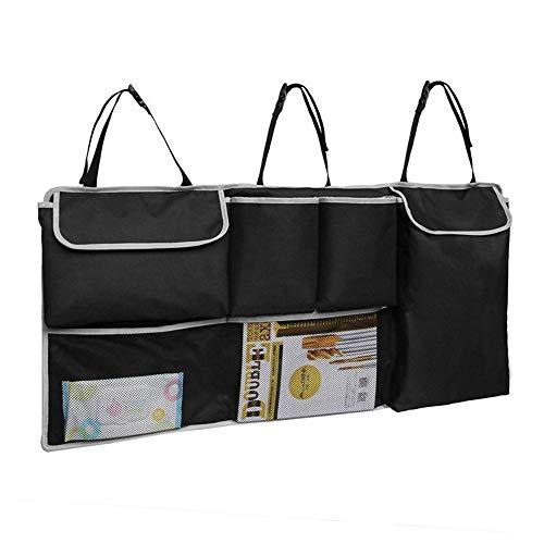 Backseat Car Organizer Protector de respaldo del automóvil con bolsillos de almacenamiento, organizadores de automóviles Organizador de asiento trasero para niños ( Color : Black , Size : One size )