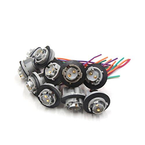 sourcing map 10pcs 1157 ampoule stop le faisceau connecteur 12V-36V pour voiture