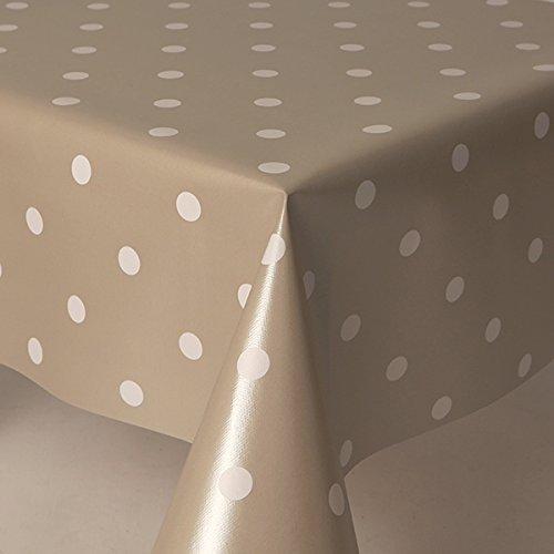 Uni Blanc Polka Dots en plastique PVC Vinyle Table Chiffon Nettoyage gris argent
