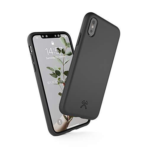 Woodcessories - Bio Case kompatibel mit iPhone X/Xs - Nachhaltig, biologisch abbaubar - BioCase Schwarz