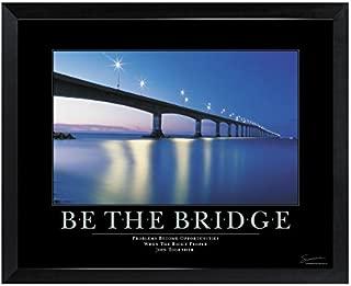 Successories 1.5 in. Black Satin Wood - Be The Bridge Mini Motivational Poster