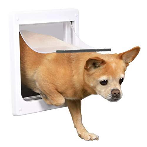 TRIXIE Pet Products 2-Fach verriegelbare Hundetür, XS bis kleine Hunde, Weiß
