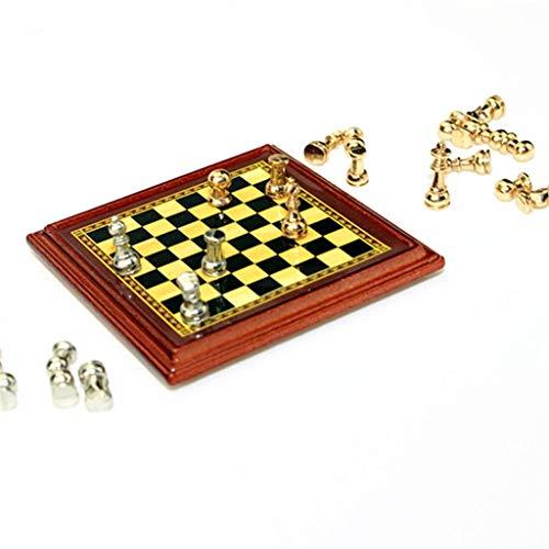 QWZ Juegos de mesa de ajedrez de viaje portátil Mini juego de tablero de ajedrez de metal juego de mesa de viaje Picnic familiar sala de eventos de juguete juego de rompecabezas para niños y adultos
