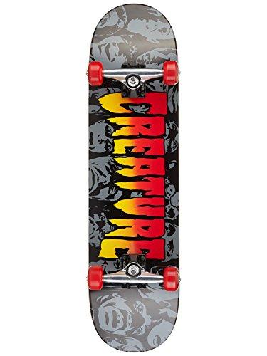 Creature Schwarz Rot Faces - 8 Inch Skateboard Komplett (One Size, Rot)