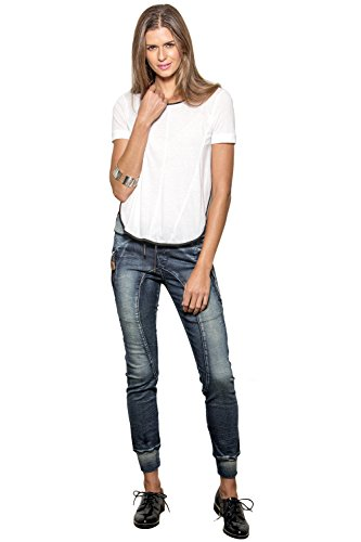 Women's Drawstring Denim Knit Skinny Joggers Pants 3