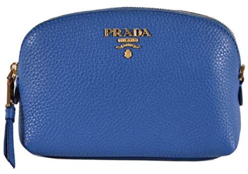 Prada Contenitore Vitello Daino 1ND005 Kosmetikkoffer Cobalto Blue