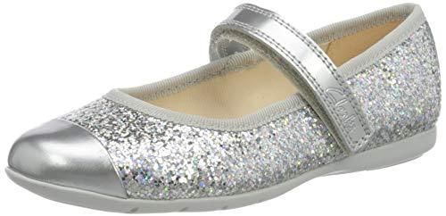 Clarks Dance Tap T, Ballerine Bambina, Argento (Silver Synthetic Silver Synthetic), 25 EU