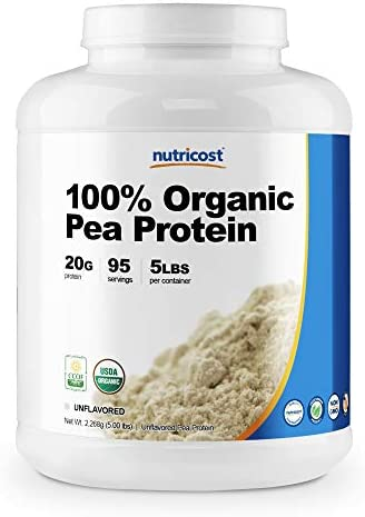 Nutricost Organic Pea Protein Isolate Powder 5LBS Unflavored Certified USDA Organic Protein product image