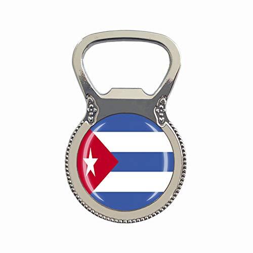 Bandera de Cuba abrelatas de botellas de cerveza refrigerador imán de metal vidrio vidrio viaje recuerdo regalo decoración del hogar