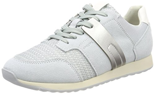 Geox Damen D DEYNNA D Sneaker, Grau (Azure), 40 EU