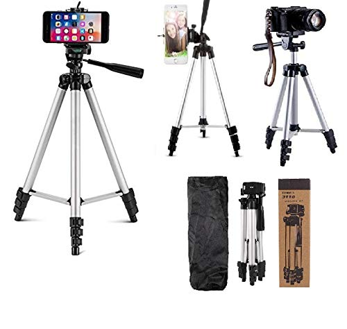 OUD Tripod 3110 Adjustable Aluminium Alloy Tripod Stand Holder for Mobile Phones & Camera, 360 mm -1050 mm, 1/4 inch...