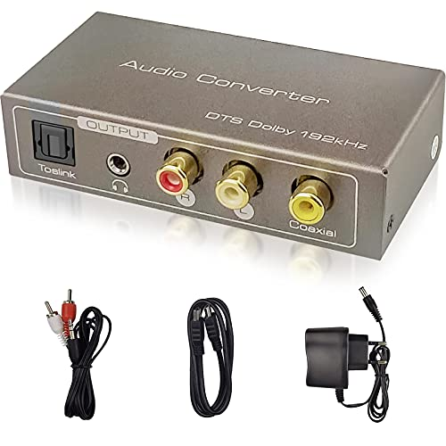 Tihokile Convertidor de Audio Multifunción, Entrada HDMI ARC/Toslink...