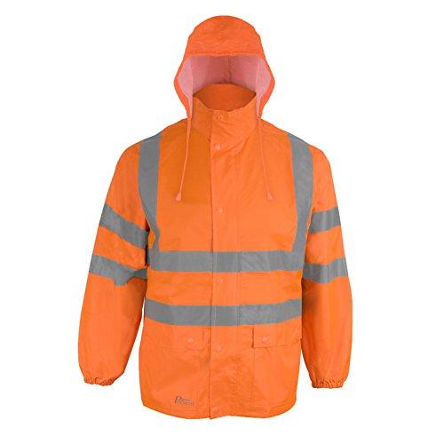 Prevent Warnschutz-Regenjacke RJO, leuchtorange, Gr. M