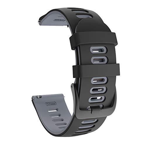 ISABAKE 22mm Cinturino Sportivo Sostitutivo in Silicone Morbido per Samsung Galaxy Watch 46mm/Garmin Vivoactive 4/Active/Gear S3 Frontier/S3 Classic/Huawei Watch GT2/Ticwatch Pro S2/E2