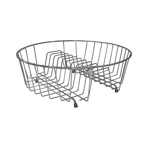 Abtropfgestell Rund 34 cm Verchromten Stahl Silber Glanz Klein Obst Geschirrtrockner Küche Teller