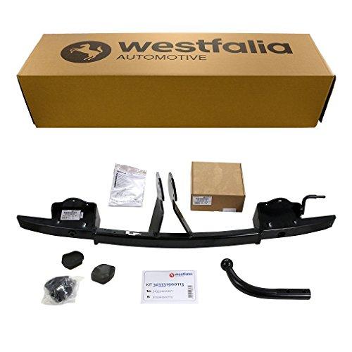 Westfalia starre Anhängerkupplung für BMW 3er Touring E91 (BJ 09/2005-08/2012), 3er Limousine E90 (BJ 03/2005-01/2012) im Set mit 13-poligem fahrzeugspezifischen Westfalia Elektrosatz