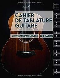 Cahier de tablature guitare: Cahier de musique pour guitare   120 tablatures vierges grand format A4 + diagrammes   outil apprentissage guitare enfant adulte et débutant