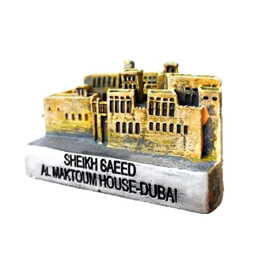 Imán para nevera de Dubai Jefe de Residencia de Cumpleaños Regalo de Regalo 3D Decoración del Hogar de la Cocina Imán de Nevera