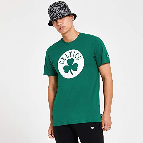 New Era NBA Print Infill tee Boscel Kgr Camiseta de Manga Corta, Hombre, Green, L
