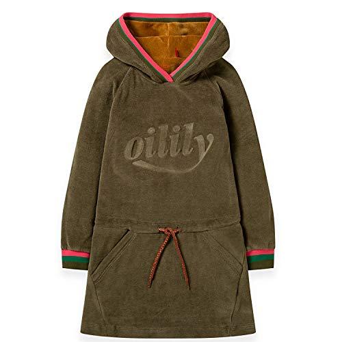 Oilily Mädchen Nicky Kleid Haxi mit Kapuze-116 - Kindermode : Mädchen