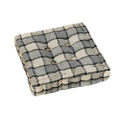 Flower Stand Square Seat Pad Dining Chair Booster, Checkered,ergonomic Seat Cushion For Best Seating Comfort, Chair Cushions Made Of Innovative Memory Foam, Seat Cushion Universally Usable ,42x42cm,Co