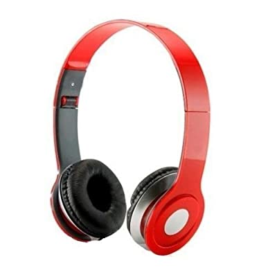 HeadGear 3.5mm Foldable Headphone Headset for Dj Headphone Mp3 M Pc Tablet Music Video and All Other Music Players (Red)