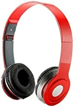 Roberts Fojjers Special Foldable Over The Head Stereo Dj Headphone 3.5 Mm for Pc Tablet Music Video & All Other Music Players. (Red)