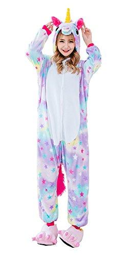 CozofLuv Pijama Animal Unicornio Entero Adultos Pijama