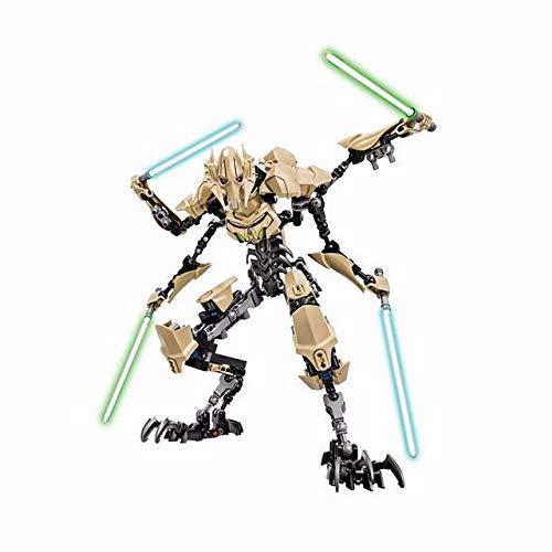 GRTG Star Wars-Kapitän Phasma Obi Wan General Grievous Kylo Ren Darth Vader Boba Fett Stormtrooper Figur blockiert Spielzeug für Kinder GeneralGrievous