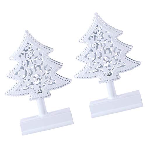 TOYANDONA 2 Piezas de Mesa Mini Hierro de Metal Adornos de Decoración de Árboles de Navidad Decoraciones de Mesa de Navidad Centros de Mesa sin Batería