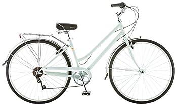 Schwinn Wayfarer Adult Bike Hybrid Retro-Styled Cruiser 16-Inch/Small Steel Step-Through Frame 7-Speed Drivetrain Rear Rack 700C Wheels Mint