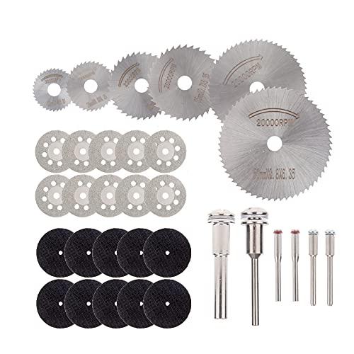Maexxna 42pcs Cutting Disc Assortment Kit for Dremel Rotary Tool Accessories, Diamond Cutting Wheels Resin Cutting Off Wheels Hss Circular Saw Blades