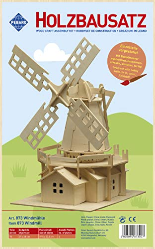 Pebaro 873 - Holzbausatz Windmühle