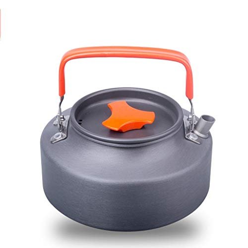 Whistle ketel Outdoor draagbare 1.1L1.6 Kettle Camping Ketel Exquisite Pot Coffee Pot Theepot Camping Equipment roestvrij staal Kettle Roestvrijstalen ketel (Color : Orange, Size : 1.1L)