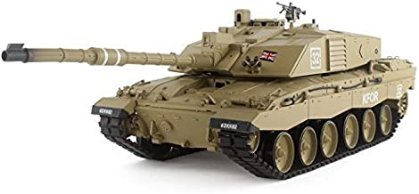 HengLong 2.4Ghz Radio Remote Control 1/16 Scale British Challenger 2 Air Soft RC Battle Tank Smoke & Sound R/C